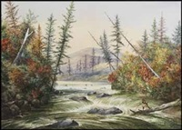 upper ristigouche river by alfred worsley holdstock