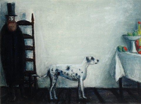 man with dog by kees andrea