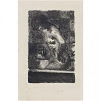 femme debout dans sa baignoire by pierre bonnard