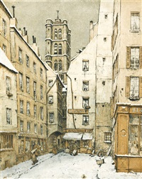 kostel st. gervais, paříž by t. frantisek simon