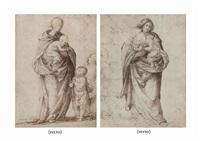 vierge à l'enfant avec saint jean-baptiste (recto); vierge à l'enfant (verso) by fra bartolommeo