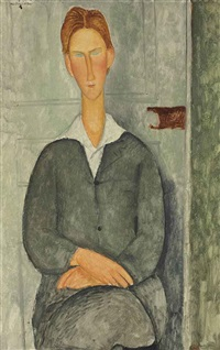 jeune homme roux assis by amedeo modigliani