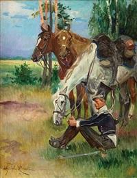 odpoczynek ułana by woiciech (aldabert) ritter von kossak