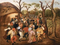 la danse de noce en plein air by pieter brueghel the younger