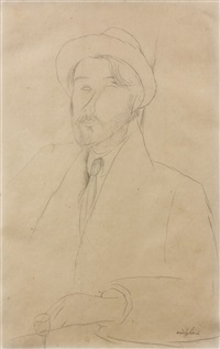 portrait de leopold zborowski by amedeo modigliani