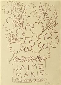 jaime marie, pl. tirée des florilège des amours de ronsard by henri matisse