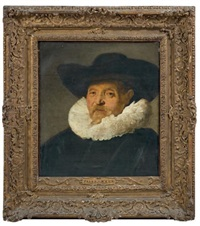 portrait d'homme au chapeau noir by frans hals the elder