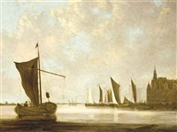 shipping in a calm by jan josefsz van goyen