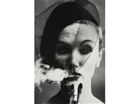 smoke + veil, paris (vogue) by william klein