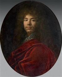 portrait d'homme au manteau rouge by french school (17)