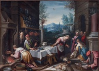 le christ chez marthe et marie (after bassano) by hans rottenhammer the elder