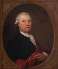 portrait of a distinguished gentleman with a red mantle by aert schouman