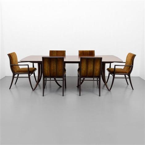 Th Robsjohn Gibbings Dining Table 6 Chairs Von Th Robsjohn