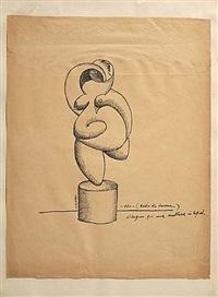 nudo di donna (study) by adone asinari