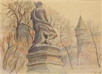 pomnik bogdana zaleskiego na plantach by stanislaw kamocki