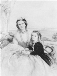 portrait of anna-maria horton, nee hamilton, of sundrum by isabel oakley naftel