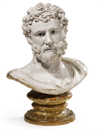 bust of a classical hero or emperor by girolamo della robbia