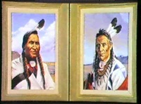 portraits - sold as a pair                 a pair (2) by irvin (shorty) shope