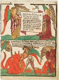 die verkündigung des reiches gottes - die besiegung des drachens, pl.24 (from die apokalypse) by anonymous (15)