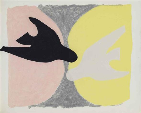 saint-john perse, l'ordre des oiseaux (set of 12) by georges braque
