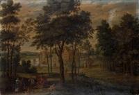 promenade en forêt by isaac van oosten