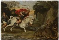 saint georges combattant le dragon by johann (hans) konig