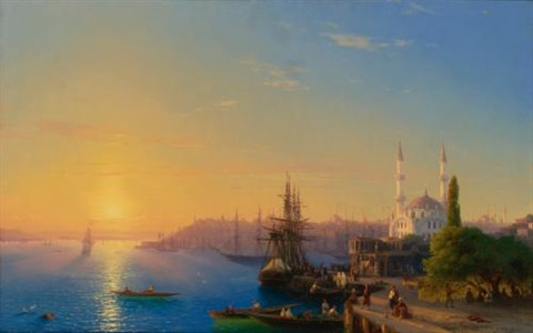view of constantinople and the bosphorus by ivan konstantinovich aivazovsky