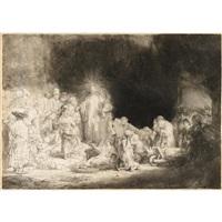 christ healing the sick by rembrandt van rijn