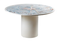 octopus dining table (painted by giancarlo micheli) by aldo tura