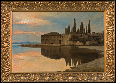 view to san vigilio at lago di garda by curt agthe