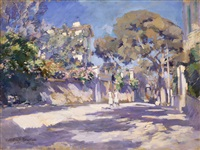 street in the south of france by konstantin alexeievitch korovin
