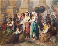 the herb market, italy by théodore valerio