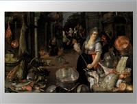küchenstillleben mit figurenstaffage by cornelis jacobsz. delff