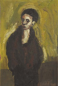 figure of a young man (portrait of a man verso) by brett whiteley