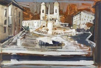 spanish steps by brett whiteley
