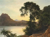 aften ved lugano by janus andreas barthotin la cour