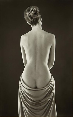 draped torso by ruth bernhard