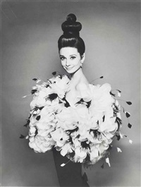 audrey hepburn in yves saint laurent by richard avedon