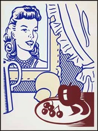 still life with portrait (from six still lifes series) by roy lichtenstein