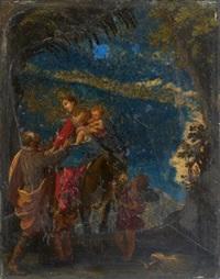 la fuite en egypte by cornelis van poelenburgh