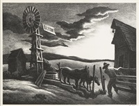 nebraska evening by thomas hart benton