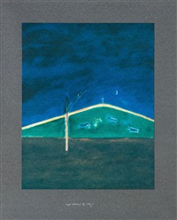 sheep in the moonlight by craigie aitchison