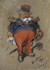 overweight admiral with sword at his side by eugene zimmermann