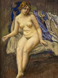 akt mladé dívky, (počátek 20.st.) by karel spillar