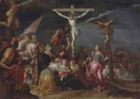 the crucifixion with the two thieves by hans von aachen