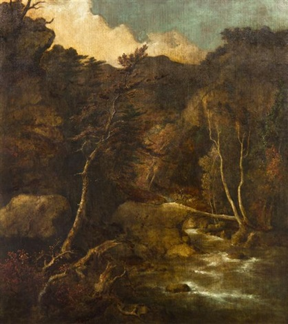 mountain torrent by george inness