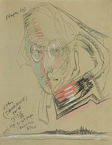 portrait of teodor birula-bialynicki, 25 viii 192 by stanislaw ignacy witkiewicz