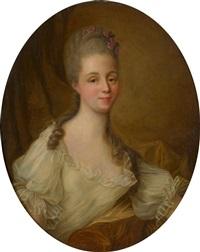 portrait de femme by françois hubert drouais