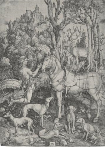 saint eustace virgin and child with monkey circa 1498 smllr 2 works by albrecht dürer