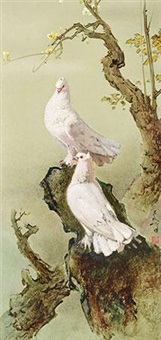 two doves by lee man fong